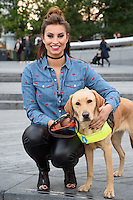 Fern McCann and Clover<br /> at the launch of Guide Dogs 'Move it for Money' fundraising campaign, London.<br /> <br /> <br /> ©Ash Knotek  D3158  04/10/2016