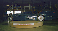 "Sir Malcolm Campbell's ""Bluebird"" land speed record car on display in the Talladega museum at Alabama International Motor Speedway in Talladega, AL on May 1, 1983.  (Photo by Brian Cleary/www.bcpix.com)"