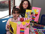 Georgia Dyer Miley and Abigail Byrne at the Easter Craft Workshop in Drogheda Library.<br /> <br /> Photo: Jenny Matthews