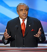Boston, MA - July 29, 2004 -- United States Representative Charles Rangel (Democrat of New York)  speaks at the 2004 Democratic National Convention in Boston, Massachusetts .Credit: Ron Sachs / CNP