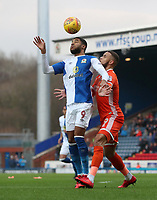 Blackburn Rovers' Dominic Samuel and Shrewsbury Town's Carlton Morris<br /> <br /> Photographer Rachel Holborn/CameraSport<br /> <br /> The EFL Sky Bet League One - Blackburn Rovers v Shrewsbury Town - Saturday 13th January 2018 - Ewood Park - Blackburn<br /> <br /> World Copyright &copy; 2018 CameraSport. All rights reserved. 43 Linden Ave. Countesthorpe. Leicester. England. LE8 5PG - Tel: +44 (0) 116 277 4147 - admin@camerasport.com - www.camerasport.com