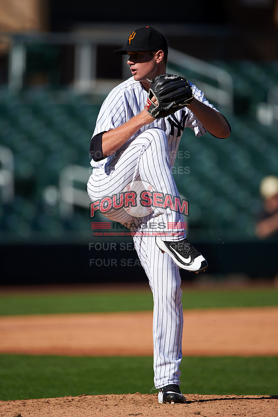 Surprise Saguaros pitcher Tyler Webb (36) delivers a pitch during an Arizona Fall League game against the Glendale Desert Dogs on October 23, 2015 at Salt River Fields at Talking Stick in Scottsdale, Arizona.  Glendale defeated Surprise 9-6.  (Mike Janes/Four Seam Images)