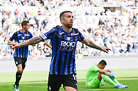 Alejandro Papu Gomez of Atalanta BC celebrates after scoring the goal of 0-3 for his side<br /> Roma 19-10-2019 Stadio Olimpico <br /> Football Serie A 2019/2020 <br /> SS Lazio - Atalanta<br /> Foto Andrea Staccioli / Insidefoto