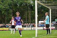 ROLDE - Voetbal, FC Groningen - FC Emmen, voorbereiding seizoen 2019-2020, 16-07-2019,  FC Groningen speler Ko Ikatura juicht na de 2-1 rechts FC Emmen doelman Dennis Telgenkamp