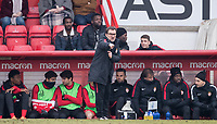 AS Monaco Youth Head Coach Frederic Barilaro during the UEFA Youth League round of 16 match between Tottenham Hotspur U19 and Monaco at Lamex Stadium, Stevenage, England on 21 February 2018. Photo by Andy Rowland.
