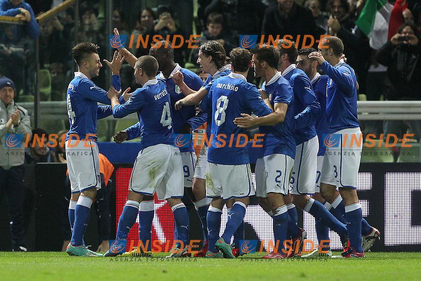 "Esultanza di Stephan El Shaarawy Italia.Goal Celebration.Parma 14/11/2012 Stadio ""Tardini"".Football Calcio Amichevole Nazionale A 2012/13.Italia v Francia.Foto Insidefoto Paolo Nucci."