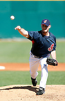 Jensen Lewis -  Cleveland Indians - 2009 spring training.Photo by:  Bill Mitchell/Four Seam Images