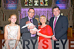 Baby Darren Thomas O, Connor with his parents Thomas & Deidre O'Connor who was christened at St. Mary's Church, Listowel by Fr. Sean Sheehy on Sunday last and afterwards at the Listowel Arms Hotel.