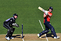 3rd November 2019, Wellington, New Zealand;  England's captain Eoin Morgan in batting action during the second T20 International game between New Zealand and England, Westpac Stadium, Wellington, Sunday 3rd November 2019.  - Editorial Use