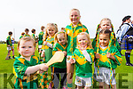 Amy Murnane, Charlotte O'Connor, Kelly Regan, Anna McCarthy, Lucy McCarthy, Lexi Royle and Isobelle Royle, pictured at the St Brendans v Kilmoyley County Hurling final in Abbeydorney on Sunday.