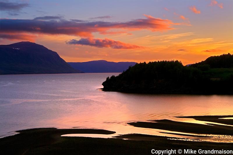 Humber River at dusk<br /> Near York Harbour<br /> Newfoundland & Labrador<br /> Canada
