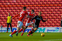 Leeds United's forward Samu Saiz (21) takes on the defence during the Sky Bet Championship match between Barnsley and Leeds United at Oakwell, Barnsley, England on 25 November 2017. Photo by Stephen Buckley / PRiME Media Images.