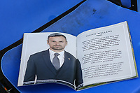 Match programme seen on a seat ahead of the Sky Bet League 1 match between Oldham Athletic and Bristol Rovers at Boundary Park, Oldham, England on 30 December 2017. Photo by Juel Miah / PRiME Media Images.