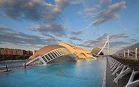 Museum of Sciences Principe Felipe, Eye of Wisdom , The Hemisphere, City of Arts and Sciences ; 1998 - 2000 ; Santiago Calatrava (Valencia, Spain, 1951) ; Valencia, Comunidad Valenciana, Spain ; First area of the City of Arts and Sciences covering 14,000 square meters. Picture by Manuel Cohen