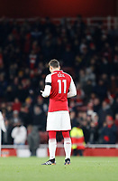 Mesut Ozil of Arsenal prays during the Premier League match between Arsenal and Huddersfield Town at the Emirates Stadium, London, England on 29 November 2017. Photo by Carlton Myrie / PRiME Media Images.