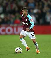 West Ham United's Manuel Lanzini<br /> <br /> Photographer Rob Newell/CameraSport<br /> <br /> The Premier League - West Ham United v Stoke City - Monday 16th April 2018 - London Stadium - London<br /> <br /> World Copyright &copy; 2018 CameraSport. All rights reserved. 43 Linden Ave. Countesthorpe. Leicester. England. LE8 5PG - Tel: +44 (0) 116 277 4147 - admin@camerasport.com - www.camerasport.com