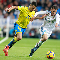 Real Madrid's Dani Ceballos (r) and UD Las Palmas' Vitolo during La Liga match. November 5,2017. (ALTERPHOTOS/Acero)