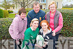 Ireland Rugby Star and Gram Slam winner, Siobhan Fleming from Currow will lead the Currow Tidy Towns Fun Run on June 16th. .Front L-R Siobhan Fleming and Erin O'Connor .Back L-R Margaret Scanlon, Peter O'Connor and Mary Brosnan.