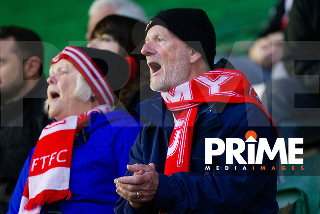 Fleetwood fans during the Sky Bet League 1 match between Plymouth Argyle and Fleetwood Town at Home Park, Plymouth, England on 25 November 2018. Photo by Mark Hawkins / PRiME Media Images.