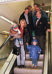 STEFAN KLOS ARRIVES IN GLASGOW WITH SON JARI, WIFE HYKA AND DAUGHTER NATASHA TO SIGN FOR RANGERS