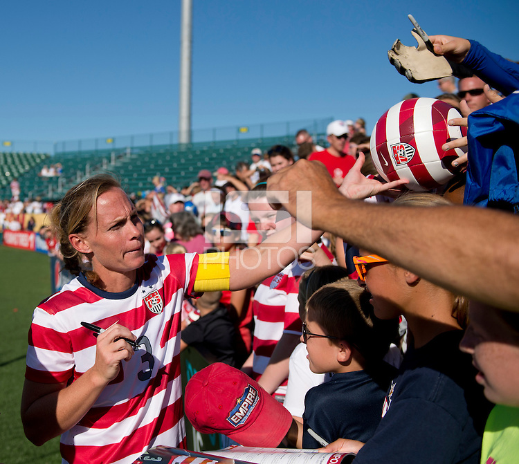 USWNT Fans, Christie Rampone.  The USWNT defeated Costa Rica, 8-0, during a friendly match at Sahlen's Stadium in Rochester, NY.