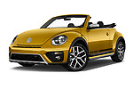 Stock pictures of low aggressive front three quarter view of 2017 Volkswagen Beetle Dune 3 Door Hatchback Low Aggressive