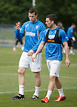 Rangers strikers Jon Daly and Nicky Clark together at training