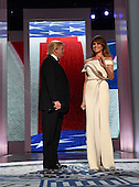 United States President Donald Trump and First Lady Melania Trump appear at the Liberty Ball on January 20, 2017 in Washington, D.C. Trump will attend a series of balls to cap his Inauguration day.       <br /> Credit: Kevin Dietsch / Pool via CNP