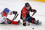 Satoru Sudo (JPN), <br /> MARCH 13, 2018 - Para Ice Hockey : <br /> Qualification round between Czech Republic 3-0 Japan <br /> at Gangneung Hockey Centre during the PyeongChang 2018 Paralympics Winter Games in Pyeongchang, South Korea. <br /> (Photo by Yusuke Nakanishi/AFLO)