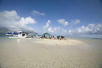 Film crew shooting a commercial at the Kaneohe Sandbar