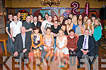 PARTY ON THE DOUBLE: Karen Hickey, Kilcummin and Una Farrell, Milltown (seated centre) who celebrated their joint 21st birthday party in the Killarney Avenue hotel with family and friends on Saturday night last.