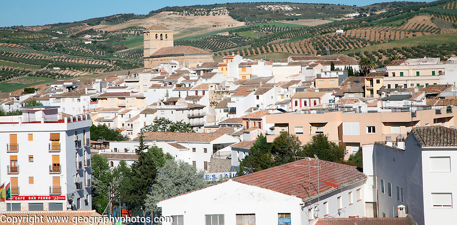 Nucleated small settlement of Alhama de Granada, Spain