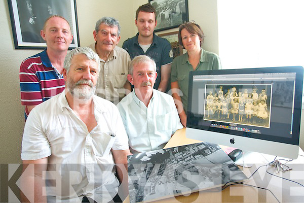 Killorglin Archive Society have launched a new update website with video, audio, photographs and documents that have been collected since its inception. <br /> Front L-R chairman of the Killorglin Archive Society Johnny O'Connor and Fergus Foley. <br /> Back L-R Mike and Keelan Foley, Donal Mangan and Tracey Spencer.