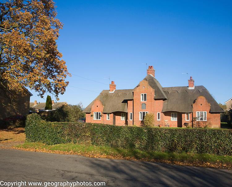 Almshouse building providing housing for the elderly, Wangford, Suffolk, England