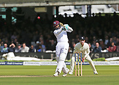 9th September 2017, Lords Cricket Ground, London, England; International test match series, third test, Day 3; England versus West Indies; West Indies Shane Dowrich slices his shot and is caught by England's Stuart Broad, off the bowling of England Bowler Toby Rolland-Jones