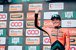 Demi Vollering (NED) Parkhotel Valkenburg after finishing in 3rd place at the end of the 2019 Liège-Bastogne-Liège Femmes, running 138.5km from Bastogne to Liege, Belgium. 28th April 2019<br /> Picture: ASO/Thomas Maheux | Cyclefile<br /> All photos usage must carry mandatory copyright credit (© Cyclefile | ASO/Thomas Maheux)