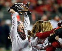 The illibuck trophy stays with Ohio State in the third quarter of the NCAA football game at Ohio Stadium on Saturday, November 1, 2014. (Columbus Dispatch photo by Jonathan Quilter)