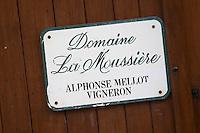 Domaine La Moussiere, Alphonse Mellot. Sancerre village, Loire, France