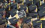 Graduates listen to the Western Nevada College commencement ceremony at the Pony Express Pavilion, in Carson City, Nev., on Monday, May 19, 2014. A record-high 543 students graduate from WNC this week. <br /> Photo by Cathleen Allison/Nevada Photo Source