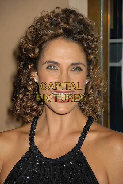 "MELINA KANAKAREDES.7th Annual All-Star ""Les Girls"" Benefit for The National Breast Cancer Coalition Fund at Avalon, Hollywood, California, USA..October 8th, 2007.headshot portrait black .CAP/ADM/BP.©Byron Purvis/AdMedia/Capital Pictures."