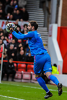 Derby County's goalkeeper Scott Carson (1) during the Sky Bet Championship match between Nottingham Forest and Derby County at the City Ground, Nottingham, England on 10 March 2018. Photo by Stephen Buckley / PRiME Media Images.
