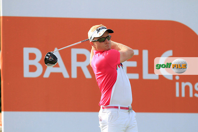 Simon Dyson (ENG) on the 9th tee during the Pro-Am of the Open de Espana  in Club de Golf el Prat, Barcelona on Wednesday 13th May 2015.<br /> Picture:  Thos Caffrey / www.golffile.ie