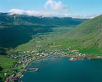 Seyðisfjörður og Fjarðará /.Seydisfjordur and river Fjardara