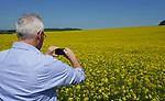Foto: VidiPhoto<br /> <br /> VERDUN &ndash; Koolzaad in volle bloei, zover het oog reikt. In Noord-Frankrijk zijn de beroemde winterkoolzaadvelden weer helemaal terug van weggeweest. Door de droge winter van 2016/2017 werd er zo&rsquo;n 60 procent minder koolzaad geoogst. Op dit moment staan de velden er uitbundig bloeiend bij en wordt er in juli een optimale oogst verwacht als het weer meezit. Het meeste koolzaad in Frankrijk wordt gebruikt voor biodiesel. De vezels zitten vol onverzadigde vetzuren, eiwitten, vitaminen en mineralen en zijn gewild als krachtvoer voor het vee. Een hectare winterkoolzaad (gezaaid in september) brengt ongeveer 4500 kilo zaad op en zomerkoolzaad (gezaaid vanaf half maart) een derde minder. Het koolzaad bevat 40 tot 45 procent olie. Per hectare kan ongeveer 1300 liter biodiesel geproduceerd worden. Het Franse areaal aan koolzaad ligt op ongeveer 1,5 miljoen hectare.