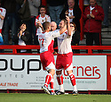 Charlie Griffin of Stevenage Borough celebrates scoring his second goal with Michael Brough during the Blue Square Premier match between Stevenage Borough and Hayes and Yeading United at the Lamex Stadium, Broadhall Way, Stevenage on 10th October, 2009..© Kevin Coleman 2009 .