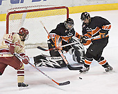 Ryan Dingle, Eric Leroux, Brian Carthas - The Princeton University Tigers defeated the University of Denver Pioneers 4-1 in their opening game of the Denver Cup on Friday, December 30, 2005 at Magness Arena in Denver, Colorado.