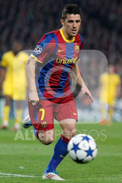 FC Barcelona's David Villa during UEFA Champions League match.March 8,2011. (ALTERPHOTOS/Acero)