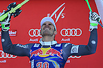 Johan CLAREY competes during the FIS Alpine Ski World Cup Men's Downhill in Kitzbuehel, on January 21, 2017. Italy's Dominik PARIS wins ahead of French Valentin GIRAUD MOINE, third also a French, Johan CLAREY.