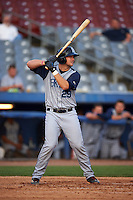 Brooklyn Cyclones third baseman David Thompson (29) at bat during the first game of a doubleheader against the Connecticut Tigers on September 2, 2015 at Senator Thomas J. Dodd Memorial Stadium in Norwich, Connecticut.  Brooklyn defeated Connecticut 7-1.  (Mike Janes/Four Seam Images)