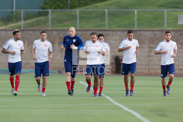 Irvine, Calif. - October 4, 2015: The USMNT train in preparation for their 2015 CONCACAF Cup match against Mexico at UCI.